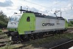 Am 16 September 2016 lauft CapTrain 185 532 um in Krefeld.