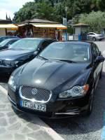 Youngtimer/349910/pkw-jaguar-xf-gesehen-auf-dem PKW Jaguar XF gesehen auf dem Parkplatz am Gardasee in Limone am 05.06.2014