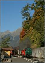 Bahnen der Jungfrau Region/290002/brb-dampzug-in-brienz1-okt-2011 BRB Dampzug in Brienz. 1. Okt. 2011